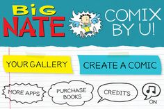 Now just like Nate, YOU can create your own comix, using Lincoln Peirce's art from the bestselling Big Nate book series.  $2.99