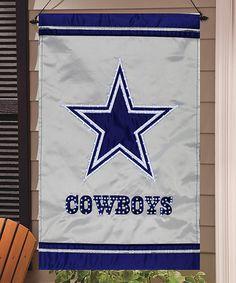 Loving this Dallas Cowboys Fiber Optic House Flag on #zulily! #zulilyfinds