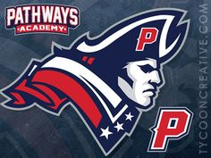 Patchways Academy High School Branding on Behance - American Logo Sport Theme Mascot Design, Logo Design, Graphic Design, Preschool Logo, American Logo, American Sports, Playboy Logo, Gear Logo, Patriots Logo