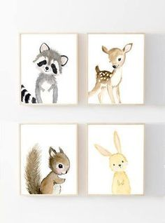 Woodland Nursery Prints Set of 4 Nursery Art Nursery Decor Kids nursery art Woodland theme baby shower woodland nursery prints Baby Room Decor, Nursery Room, Girl Nursery, Nursery Themes, Baby Room Art, Nursery Crafts, Diy Nursery Decor, Babies Nursery, Boho Nursery
