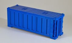 Train Containers Blue | The new 1x6x5 LEGO panels make a gre… | Flickr