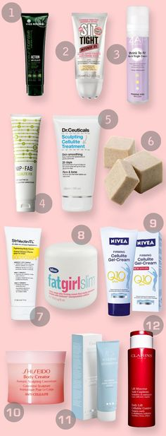 The Dirty Dozen - 12 of the best cellulite lotions and potions to get you beach ready in no time!