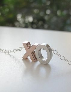 XO <3 Hugs + Kisses Necklace