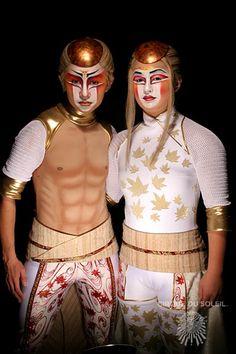Two acrobats - Cirque du Soleil