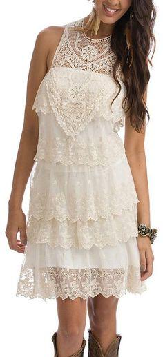 Ivory Lace Boho Dress ♡