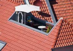 Dieses Bild zeigt eine Dachterrasse auf einem Walmdach.