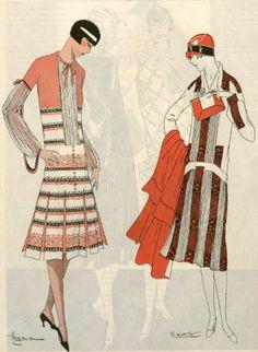 1926 silk dresses, L'Art et la Mode magazine