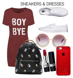 """Street Cool"" by stephanieadeline ❤ liked on Polyvore featuring Vans, Fendi and Christian Dior"