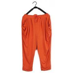 Women Summer All Matching Casual Loose Grass Green Haren Pants Cotton... ($18) via Polyvore