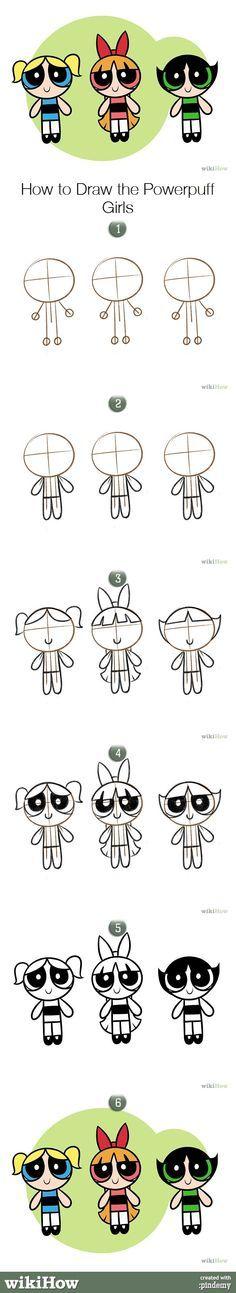 How to draw the Powerpuff Girls. #art #drawing #cartoons