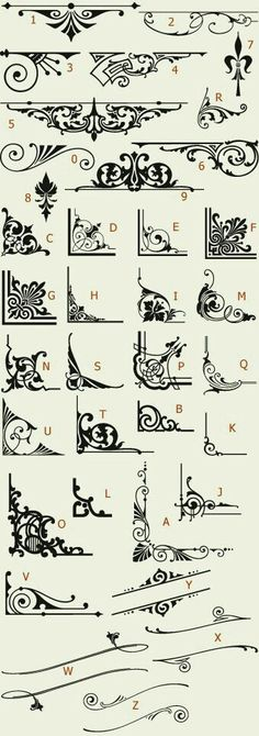 Fonts calligraphy design cards letters idea scroll drawing handwriting