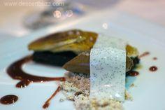 Banana, Milk Skin, Dried Cherry and Bitter Chocolate by Johnny Iuzzini :)