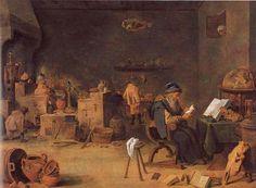 La alquimia según David Teniers el Joven(siglo XVII). | Matemolivares