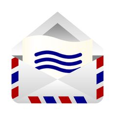 Image for Air mail envelope Household Clip Art