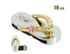 Shoe Shaped 16GB USB Flash Drive (Gold)$26.99