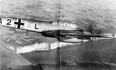 Me-110 over the English coast