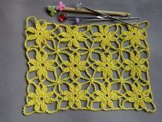 Crochet Bande - Como tejer un poncho a Crochet paso a paso Crochet Tree, Crochet Motifs, Crochet Stitches Patterns, Crochet Squares, Crochet Flowers, Stitch Patterns, Knit Crochet, Crochet Videos, Crochet Projects