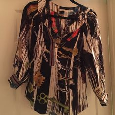 Dvf Keys Blouse Iconic top from DVF // keys print and collection // excellent condition Diane von Furstenberg Tops