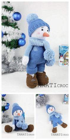 Crochet Amigurumi Free Patterns, Crochet Animal Patterns, Crochet Doll Pattern, Crochet Patterns Amigurumi, Amigurumi Toys, Crochet Christmas Decorations, Christmas Crochet Patterns, Holiday Crochet, Crochet Patron