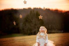 girl toddler photo session idea stars tutu glitter