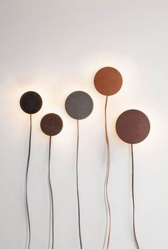 Leather Lamps by Norm Architects at Nordkraft's Exhibition - Nordic Design Interior Lighting, Lighting Design, Modern Lighting, Wall Lighting, Lighting Ideas, Bedroom Lighting, Diy Lampe, Brass Lamp, Lamp Light