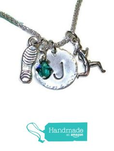 Marathon Runners Hand Stamped Sterling Silver Initial Charm Necklace - Personalized Sterling Silver Runners Necklace - You Choose Plain Running Shoe, 13.1 or 26.2 from Dolphin Moon Creations http://www.amazon.com/dp/B016FSHSN2/ref=hnd_sw_r_pi_dp_WQLlwb02EKEPG #handmadeatamazon