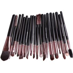 COFFEE Stylish 20 Pcs Multifunction Nylon Face Eye Lip Makeup Brush Set