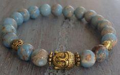 Buddha Bracelet Boho Chic Beaded Bracelet Jasper by indietiez