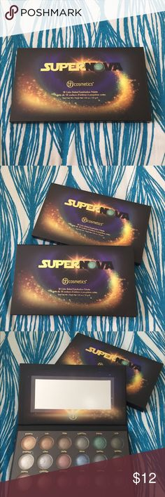 BH Cosmetics Supernova Eyeshadow Palette BRAND NEW BH Cosmetics 18 baked eyeshadow palette. Contains both neutrals & vibrant hues. All shimmer shadows. Can be used wet or dry. Clinically tested. Allergy tested. BH Cosmetics Makeup Eyeshadow
