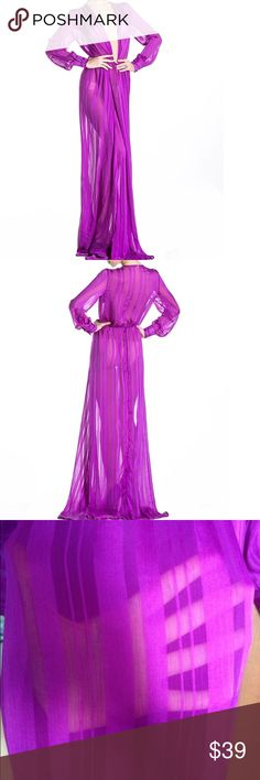 New Purple floor length Beach wear NWT Dresses Maxi
