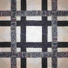 Neutral Quilt Block Pattern