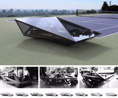 United Nude gives Lamborghini Countach the Lo-Res treatment Weird Cars, Cool Cars, Fancy Cars, Automobile, Eco Friendly Cars, Solar Car, Futuristic Cars, Futuristic Design, Future Car