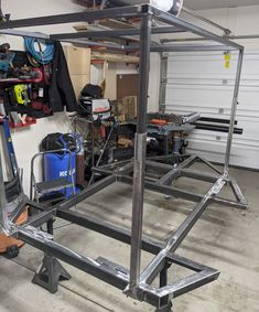 After welding up his own Dinoot M416 trailer frame with our frame drawings, Richard added a telescoping rack of his own design to it. Welding, Compact, Drawings, Frame, Diy, Design, Trailers, Picture Frame, Soldering