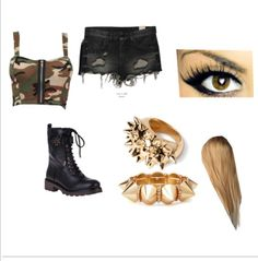 Without the boots and jewelry. I rarely say this because I'm a tomboy but the makeup cam stay. There needs to be converse and a studded belt. Wrestling Clothes, Wrestling Outfits, Wwe Outfits, Wrestling Divas, Fashion Outfits, Wwe Womens, Studded Belt, Wwe Divas, Polyvore Outfits