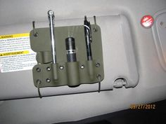 Cool Kydex projects - : and Off-Road Forum - something to make for the car. Coldre Kydex, Kydex Holster, Tactical Survival, Tactical Gear, Survival Prepping, Survival Gear, Bushcraft, Truck Mods, Gadgets