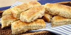 Spud Island Biscuit Fingers - Recipes - Best Recipes Ever - Potatoes lend flavour and moisture to a traditional P.E.I. specialty: biscuits. The biscuits are just as tasty without the cheese and cayenne.