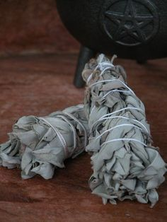 White Sage Smudge Wand . For Cleansing and Clearing the Home of Negativity, Spiritual Cleansing, Banishing, Protection - White Magick Alchemy