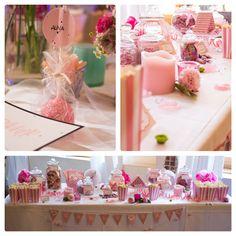 rose summer candy bar, rose cake pops, sweet table, wedding inspiration