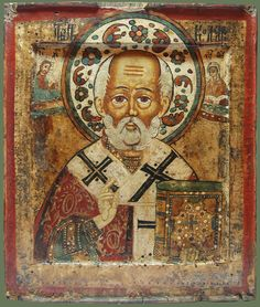 "Икона «Св. Николай Чудотворец» Середина XVIIIв. ENGLISH TRANSLATION: Icon ""St. Nicholas ""middle of the XVIII century"