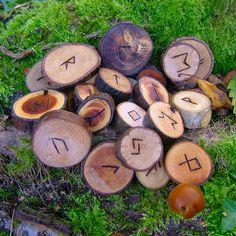Elder Futhark rune set.
