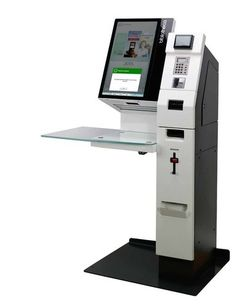 library self-service kiosk Kiosk Design, Store Design, Cash Machine, Self Service, Tablet Stand, Digital Signage, Industrial Design, Innovation, Projects To Try