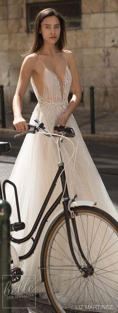 Wedding Dress by Liz Martinez 2018 Bridal Collection #bohowedding #boho #bohemian #bohobride #bohostyle #weddingdresses #weddinggowns #bridaldress #bride #bridal #bridalgown #brides #weddings