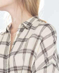 ZARA - TRF - CHECKED SHIRT