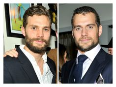 Oops! But, they're both British, sexy and bearded. Can you blame us?! Jamie Dornan ♡ and Henry Cavill ♡
