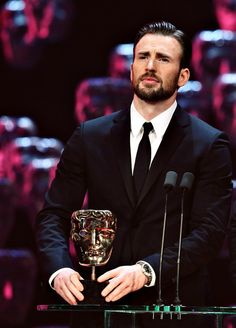 Chris Evans at The 68th British Academy Film Awards