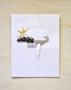 Striking Birthday Card by Maile Belles for Papertrey Ink (July 2015)