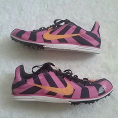 Nike Rival D running shoes Brand new with spikes, good for track/sprint running(NO TRADES) Nike Shoes Athletic Shoes