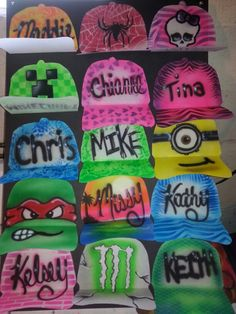 Airbrush hats by Andi Air Airbrushing on Facebook