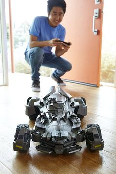 DC Comics Justice League Movie Batmobile R/C Vehicle Car Controlled By Smartphone App