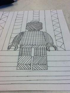 Lego poppetje lijnen